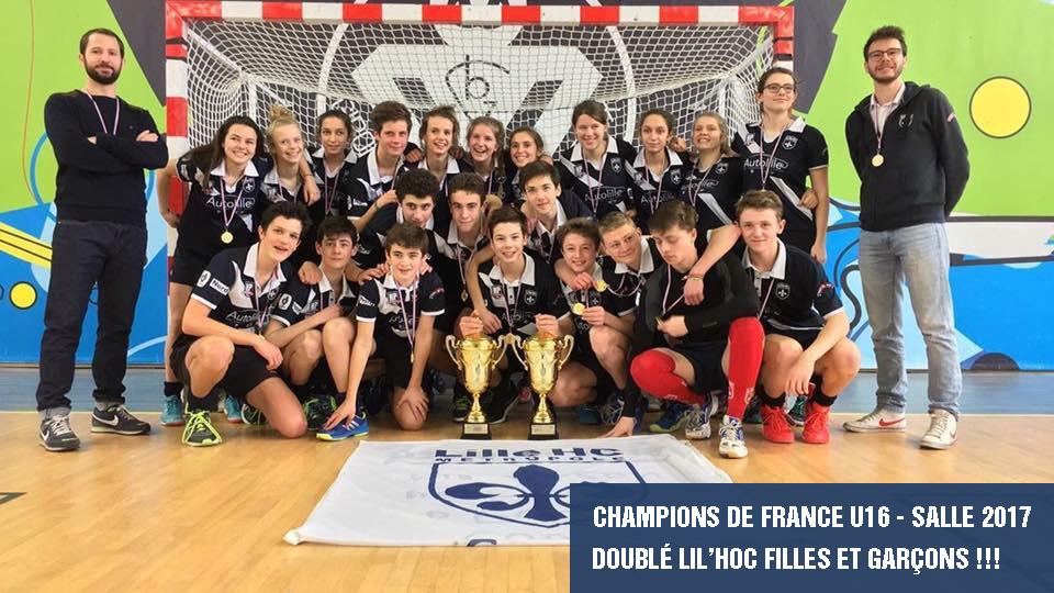 Lil'Hoc - Champions de France - Hockey en salle U16 DOUBLÉ